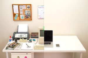 Clear your workspace and place the unused items in a community storage space